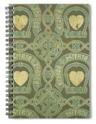 Heart Motif Ecclesiastical Wallpaper Spiral Notebook