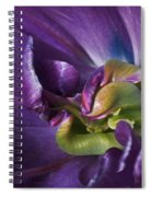 Heart Of A Purple Tulip Spiral Notebook
