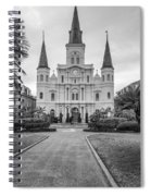 Heart Of The French Quarter Monochrome Spiral Notebook