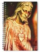 Heart Of The Savior Spiral Notebook