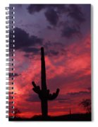 Heart Of The Sunset Spiral Notebook