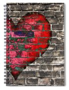 Heart On The Old Wall Spiral Notebook