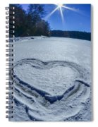 Heart Outlined On Snow On Topw Of Frozen Lake Spiral Notebook