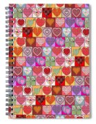 Heart Patches Spiral Notebook