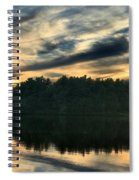 Heart Pond Sunset Spiral Notebook