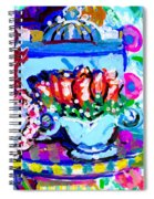 Heart Roses And Tiara Spiral Notebook