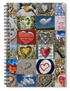 Heart Shape Collage  Spiral Notebook