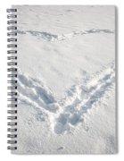 Heart Shape In Snow Spiral Notebook