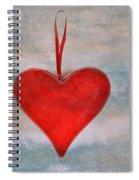 Heart Shape Textured Spiral Notebook