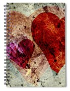 Hearts 10 Square Spiral Notebook