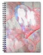 Hearts 15 Square Spiral Notebook