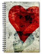 Hearts 3 Square Spiral Notebook