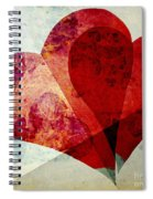 Hearts 5 Square Spiral Notebook