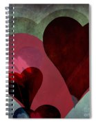 Hearts 9 Square Spiral Notebook