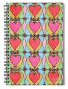Hearts A'la Stained Glass Spiral Notebook