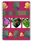 Hearts And Flowers 2 Spiral Notebook