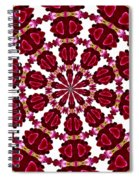 Hearts And Orchids Kaleidoscope Spiral Notebook