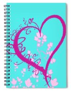 Hearts And Vines Spiral Notebook