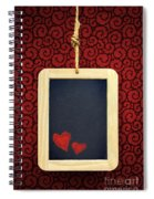 Hearts In Slate Spiral Notebook