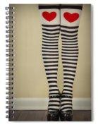 Hearts N Stripes Spiral Notebook