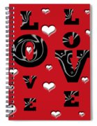 Hearts Of Love Spiral Notebook