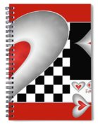 Hearts On A Chessboard Spiral Notebook