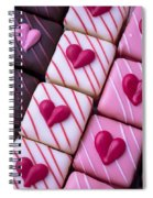 Hearts On Candy Spiral Notebook