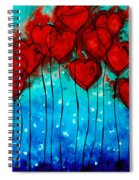 Hearts On Fire - Romantic Art By Sharon Cummings Spiral Notebook