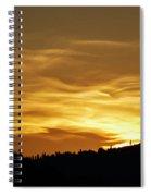Heavenly Gold Sunset Spiral Notebook