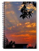 Heavenly Rays Two Spiral Notebook