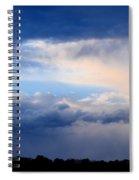 Heavenly Winter Blues Spiral Notebook