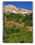 Heavens Peak Glacier International Peace Park Spiral Notebook