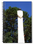 Heavenward Gaze - Sculpture - Lady Spiral Notebook