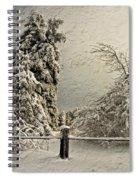 Heavy Laden Blizzard Spiral Notebook