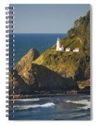 Heceta Head Lighthouse - Sunny Spiral Notebook