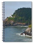 Heceta Head Overlooking The Pacific Ocean Spiral Notebook