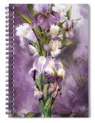 Heirloom Iris In Iris Vase Spiral Notebook