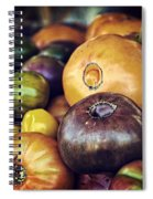 Heirloom Tomatoes At The Farmers Market Spiral Notebook