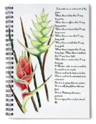 Heliconia Poem Spiral Notebook