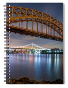 Hell Gate And Triboro Bridge By Night Spiral Notebook