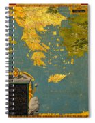 Hellenic Peninsula Greece Albania Bosnia And Bulgaria Spiral Notebook