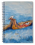 Hello Young Lovers In Blue Spiral Notebook