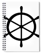 Helm In Black And White Spiral Notebook