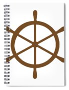 Helm In Brown And White Spiral Notebook