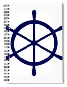 Helm In Navy Blue And White Spiral Notebook