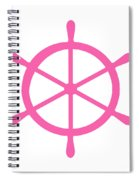 Helm In Pink And White Spiral Notebook