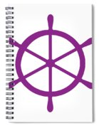 Helm In Purple And White Spiral Notebook