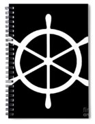 Helm In White And Black Spiral Notebook