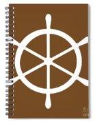 Helm In White And Brown Spiral Notebook