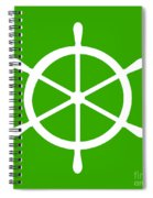 Helm In White And Green Spiral Notebook